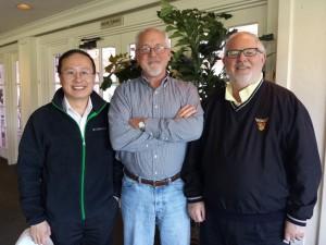 王杰教授与Pat Driscoll教授(MCM主席), Bill Fox教授(MCM前主席)的合影